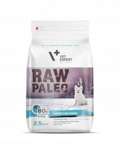 VET EXPERT RAW PALEO large size PUPPY 2,5kg
