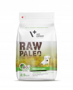 VET EXPERT RAW PALEO mini size PUPPY 2,5kg